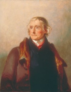 Thomas Jefferson:  1856 copy by Thomas Sully after Sully's 1821 original life portrait