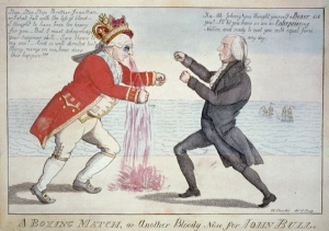 A boxing match, or another bloody nose for John Bull / W. Charles (1813)