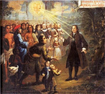 1747 John Valentine Haidt (1700-1780). Zinzendorf as the Teacher of the Peoples. Moravian Unity Archives, Herrnhut, Germany.
