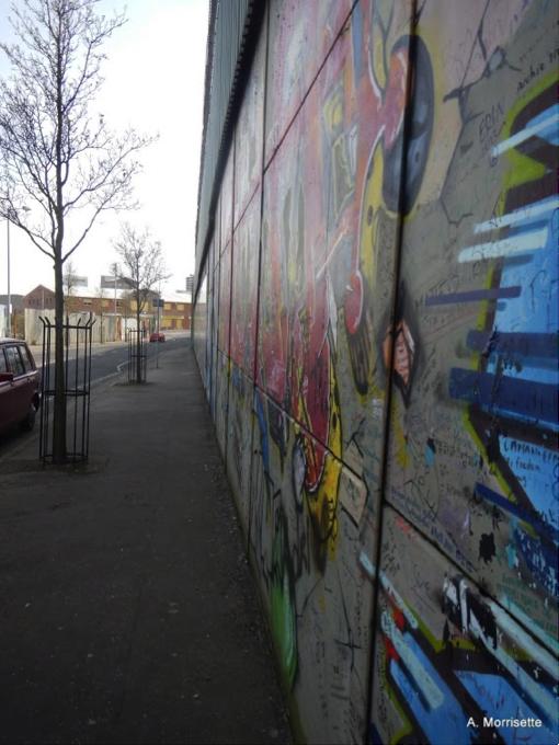 Peace wall graffiti.