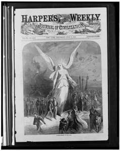 Peace--Fourth of July, 1865. Harper's Weekly.