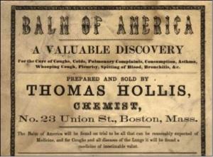 Thomas Hollis' 'Balm of America' broadside.