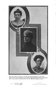 Mrs. Ellen Hall Crossman, upper left. Lineage Book National Society of the Daughters of the American Revolution