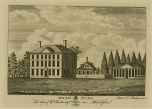 Bush Hill, a country home belonging to William Hamilton and rented by John Adams, became an off-site hospital for yellow fever patients, who were removed from central Philadelphia.