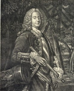 Sir William Johnson, engraving 1756